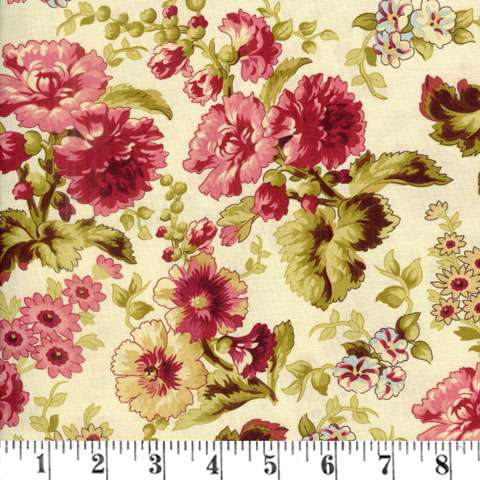 AF172 Bricolage - ivory large floral preview