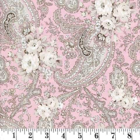 AF194 Rose Garden - Pink Rose Paisley preview