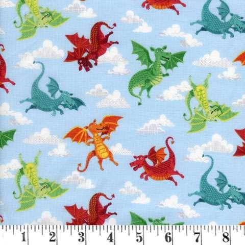 AF206 Dragonheart - Dragons Allover preview