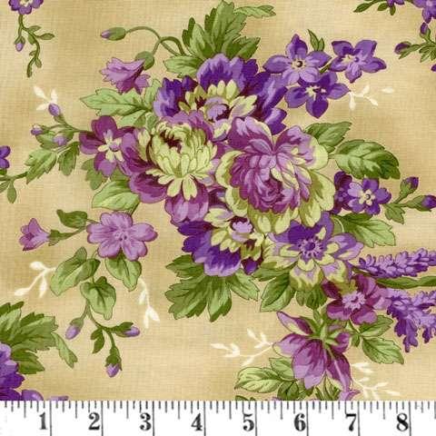 AF232 Aubergine - Antique Floral preview