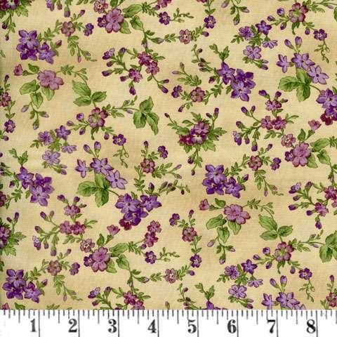 AF234 Aubergine - Antique Trailing Flower preview