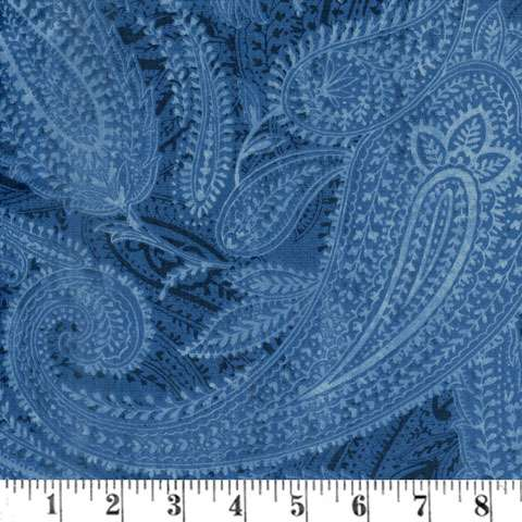 "AF244 Extra Wide Backing - Blue Paisley 108"" preview"