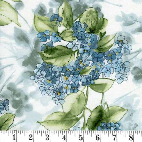 AF287 Watercolor Hydrangeas - Blue Hydrangeas preview
