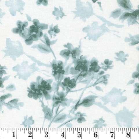 AF290 Watercolor Hydrangeas - Tonal Floral Blue/Teal preview