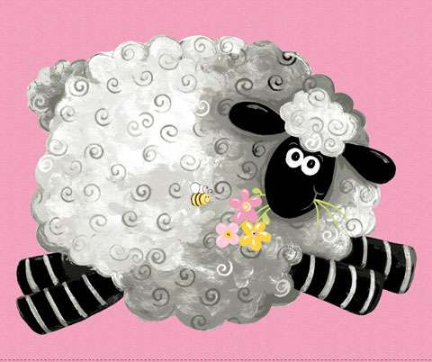 AF313 Pink Lal The Lamb - Play Mat 90cm Panel preview