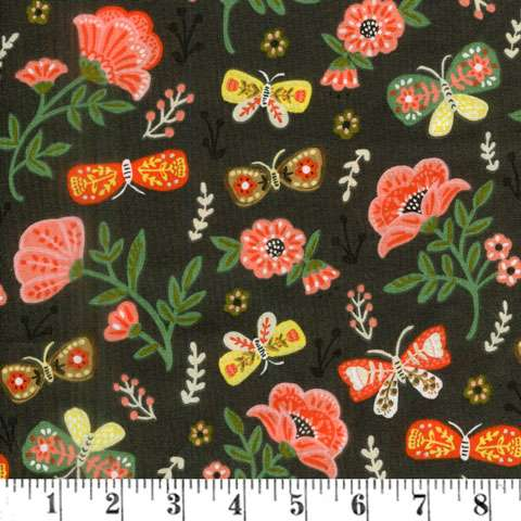 AF340 Glorious Garden - Flowers on Brown preview
