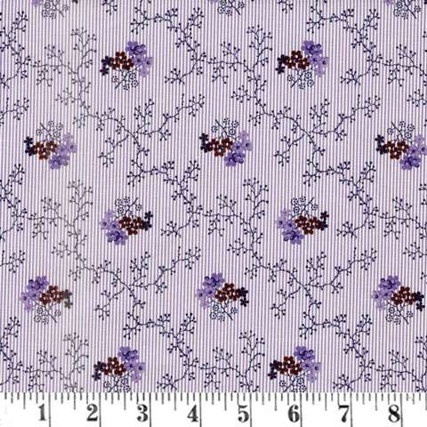 AF368 A Soldiers Quilt - Purple Lace Floral preview