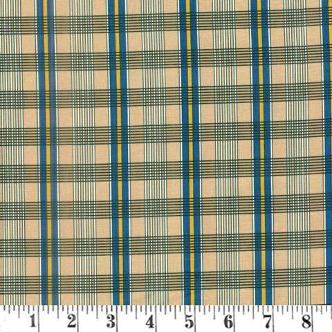 AF373 A Soldiers Quilt - Navy Plaid preview