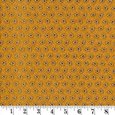 AF378 Spice it Up - Petitie Paisley - Golden Yellow preview