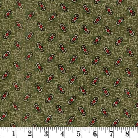 AF381 Pam's Prairie Basics - Green Reproduction preview