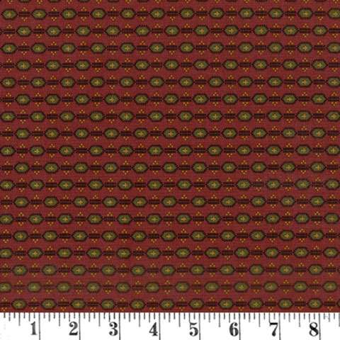 AF382 Pam's Prairie Basics - Burgundy Reproduction preview