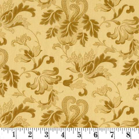 "AF397 Extra Wide Backing - Flourish Vanilla (108"" wide) preview"