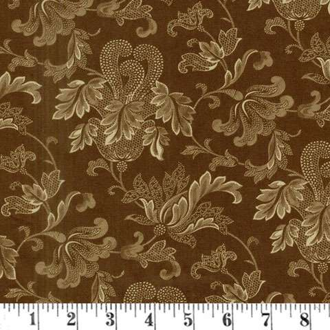 "AF398 Extra Wide Backing - Flourish Chocolate (108"" wide) preview"