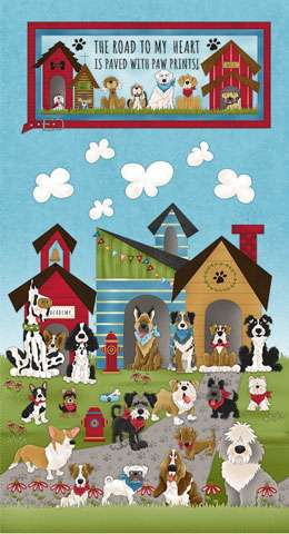 AF430 Home Is Where The Dog Is - Panel 60cm preview