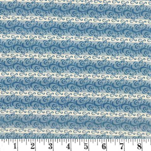 AF453 French Paisley - Blue Scroll preview