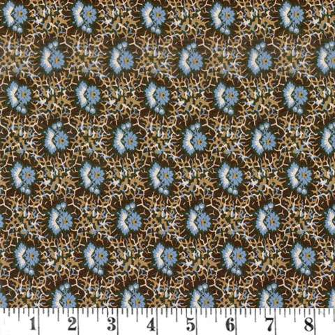 AF454 French Paisley - Brown Flower preview