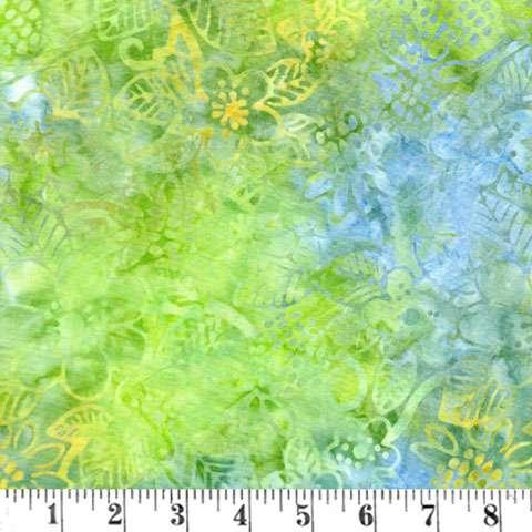 AF463 Batik - Green/Blue Picked Flowers preview