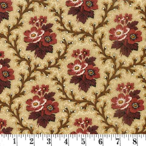 AF474 Chatham Hall 115 - Cabernet - Coral Flowers preview