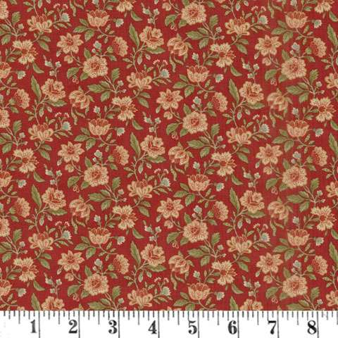 AF631 Rosewood - Packed Floral - Cherry preview
