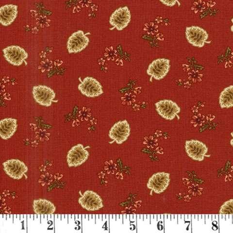 AF638 Buttermilk Blossoms - Red Leaf preview