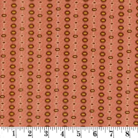 AF783 Hickory Road - Dotted Stripe - Brick Red preview