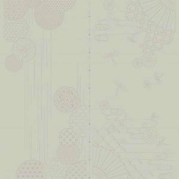 AG045 Sashiko Panel - Autumn Sky - Grey preview