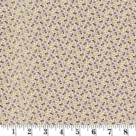 AG047 Sweet Violet - Tiny Floral - Ivory preview