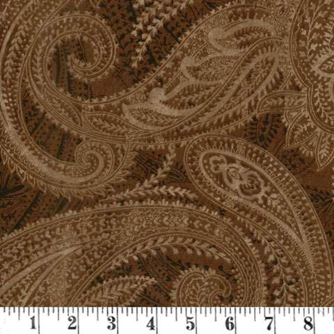 "AG055 Extra Wide Backing - Brown Paisley (108"" Wide) preview"