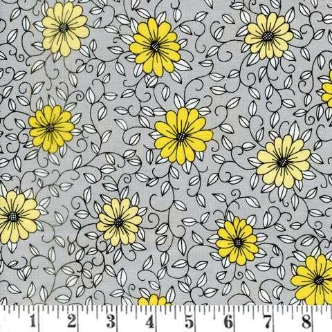 AG153 Honey Run - Grey Floral preview