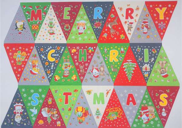 AG163 Christmas Bunting - 90cm Panel preview