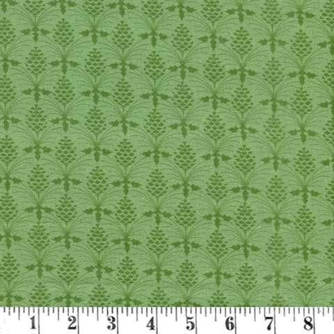 AG178 Christmas Bird Song - Light Green Pinecones preview