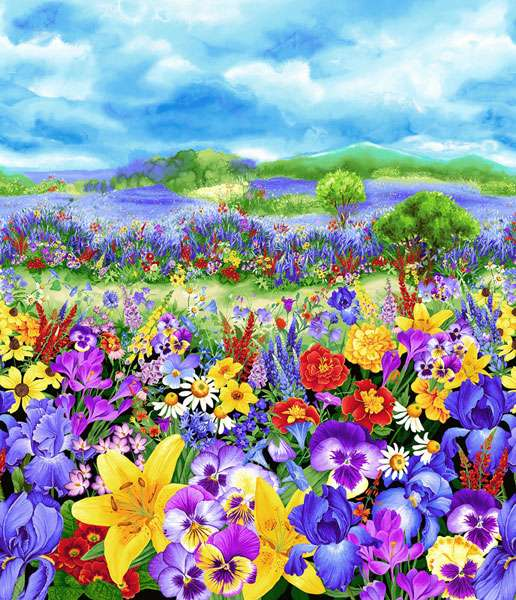 AG191 Wild Meadow - Digital Panel 90cm preview