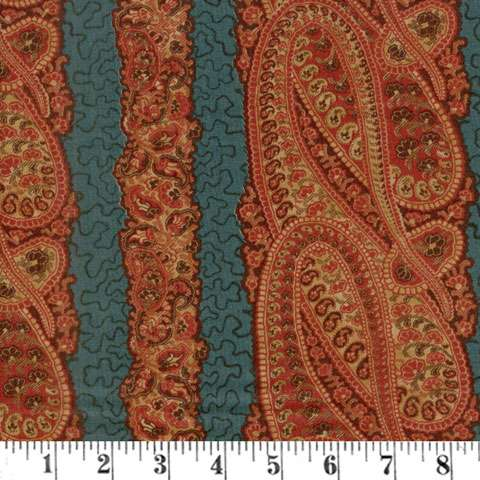 AG224 (AB) Grace's Garden - River Road - Teal preview