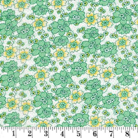 AG276 Nana Mae III - Green Dotted Flower preview