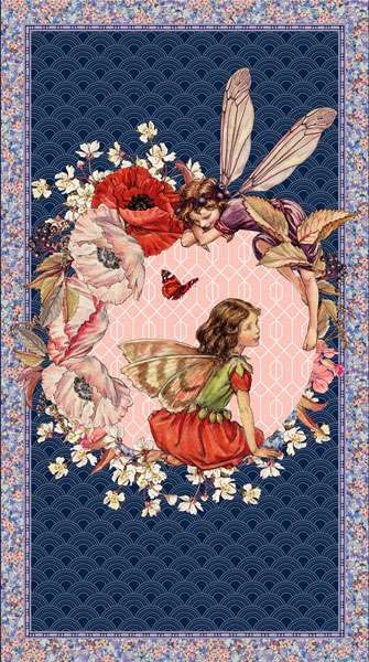 AG410 Elderberry Flower Fairies - Digitally Printed Panel preview