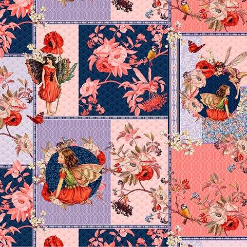 AG411 Elderberry Flower Fairies - Digitally Printed Collage preview