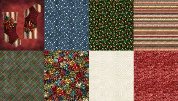AG453 Ol' St Nick - 8 Fat Quarters Panel  preview