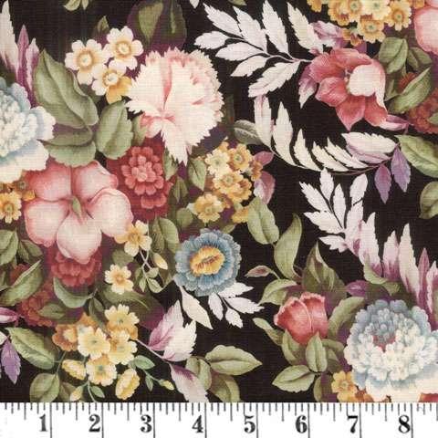 AG462 Vintage Aubusson - Black Allover Floral preview