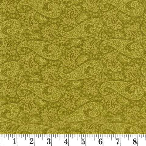 AG508 Hat Box - Green Paisley 107 preview