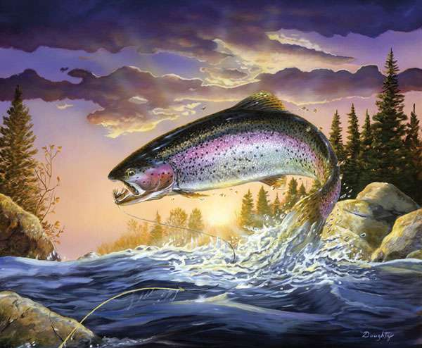 AG514 Fish & Fowl - Trout Panel preview