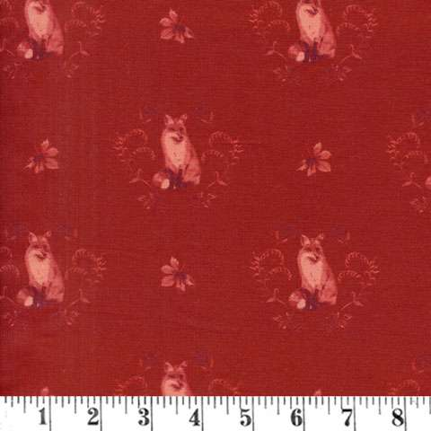 AG520 Fables - Fox Damask Burgundy preview