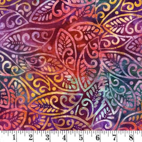 AG533 Batik - Red Spring Leaves preview