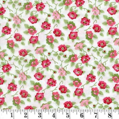 AG544 Granny Chic - Floral - Pink on Cream preview