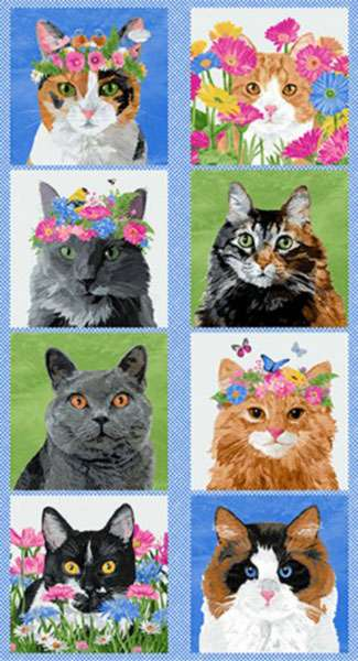 AG567 Meow Meadow - Panel 60cm preview