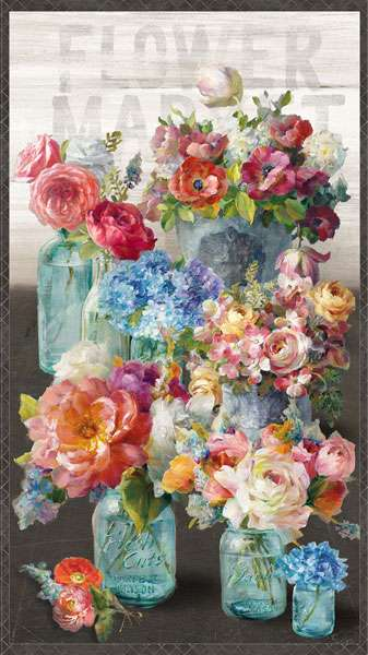 AG631 Flower Market - Panel 60cm preview