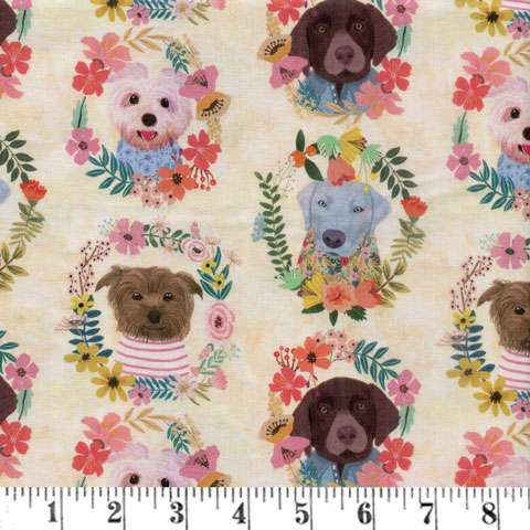 AG674 Floral Pets - Allover Dogs preview