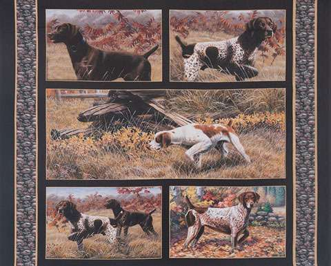 AG867 Show Dogs - Panel 95cm preview