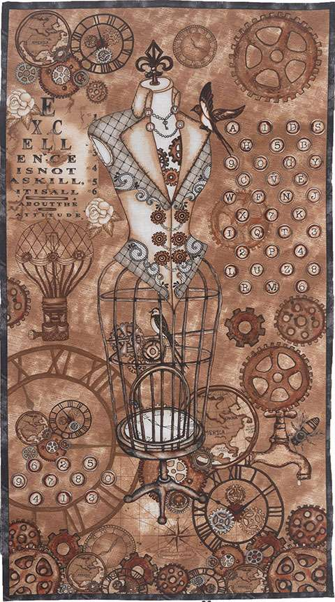 AG869 Unknown Voyage - Panel 60cm (STEAM PUNK) preview