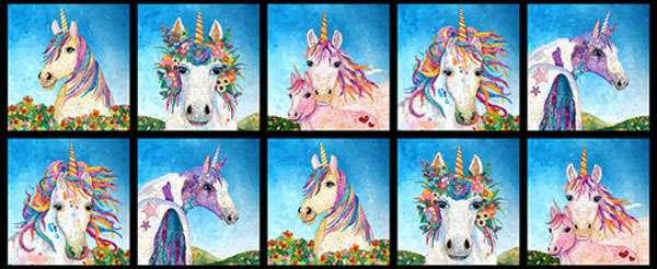 AG893  Unicorn-o-copia - Repeat Block Panel 48 cm preview