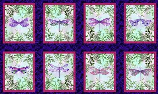 AH018 - Dragonfly Garden - 60cm Repeat preview